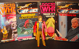 Target Books: Doctor Who The Mysterious Planet, Terrance Dicks; Mindwarp The Trial of a Timelord, Philip Martin; Terror of the Vervoids, Pip and Jane Baker; The Ultimate Foe, Pip & Jane Baker
