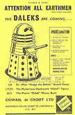Codeg Dalek Advertisement in Toys and Games Sept 1965 supplement