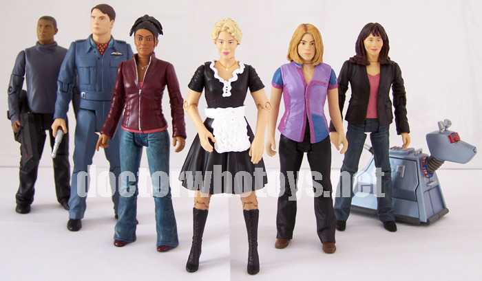 Doctor Who Action Figures - Mickey Smith, Captain Jack Harkness, Martha Jones, Astrid Peth, Rose Tyler, Sarah Jane Smith and K-9