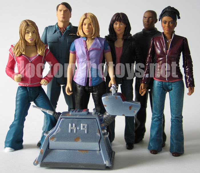 Doctor Who Action Figures - Rose Tyler, Captain Jack Harkness, Rose Tyler (New Earth), Sarah Jane Smith, Mickey Smith, Martha Jones and K-9