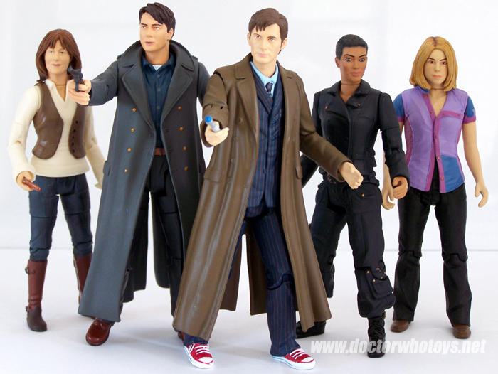 Doctor Who Action Figures - Sarah Jane Smith, Captain Jack Harkness, The Doctor, Martha Jones and Rose Tyler