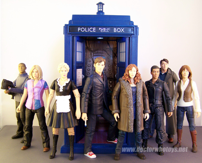 Doctor Who Action Figures - Mickey Smith, Rose Tyler, Astrid Peth, The Doctor, Donna Noble, Martha Jones, Captain Jack Harkness and Sarah Jane Smith