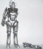 Customised Damaged Cyberman with Arm Accessory
