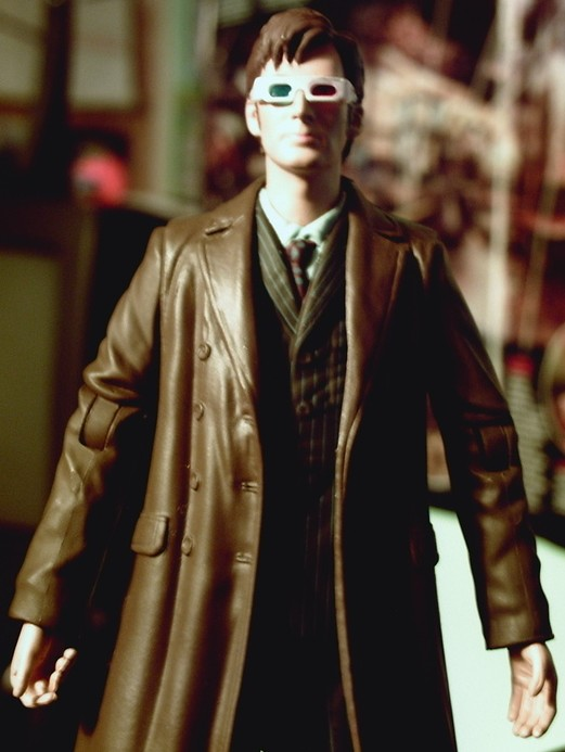 Doctor in long coat with 3-D glasses Custom Figure