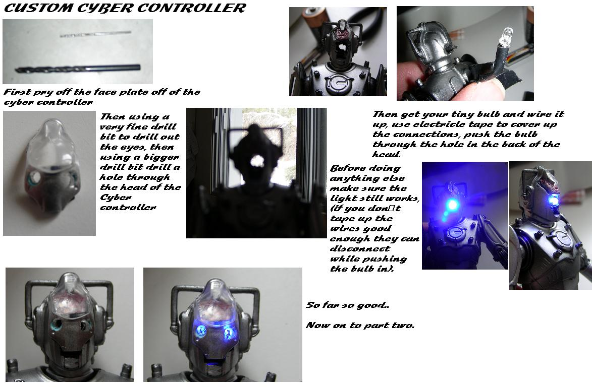 Customized Doctor Who Toy: Cyber Controller from 5 Inch Cyber Controller & Guards