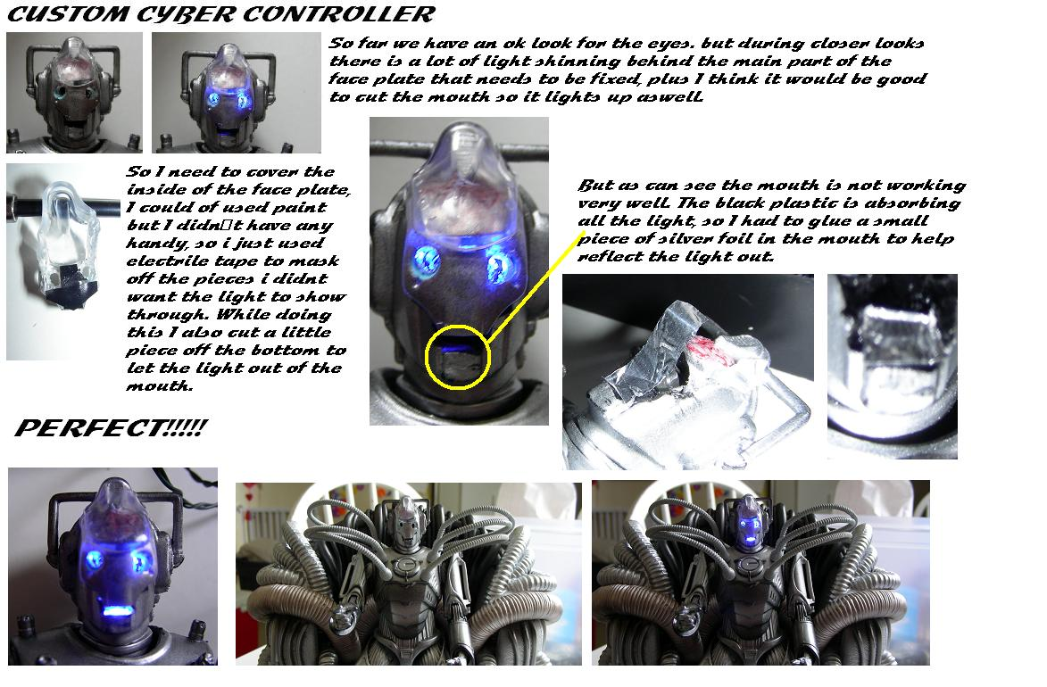 Customized Cyber Controller Doctor Who Action Figure
