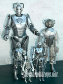 Cyberman 12 inch Character Options, Denys Fisher Cyberman, 5 inch Cyber Leader & Cyberman, and Dapol Cyberman - Thanks Ian