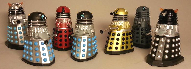 Dalek Collector Set 1, 2 and 3