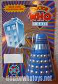 Dapol Ultra Rare (1 of 80 pieces worldwide) Blue Dalek on Rainbow Card