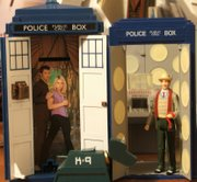 Character Options Tardis Talking Money Bank and Dapol Tardis with Dapol K-9 and 7th Doctor