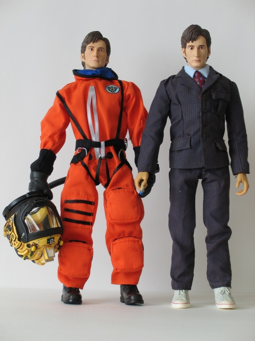 The Doctor in Spacesuit and The Doctor 12 Inch Action Figures