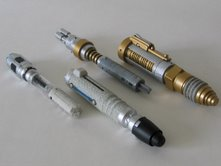 The Doctor's Sonic Screwdriver and The Master's Laser Screwdriver
