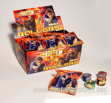 Doctor Who Power Rollers Packs and Tardis Rollers Box
