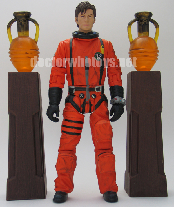 The Tenth Doctor in Dirty Spacesuit with 2 Obelisks
