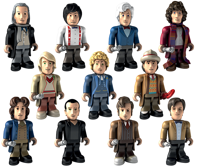 NEW Dr Who Character Building 11 Doctors Micro Figures Set 50th Anniversay Pack