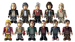 50thAnniversary Eleven Doctors Micro-Figure Set