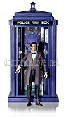 New Series 7 Eleventh Doctor Action Figure with Spin and Fly Tardis