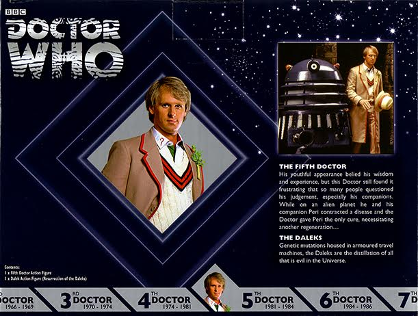 Fifth Doctor with Dalek