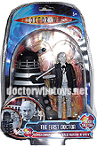 The First Doctor William Hartnell & Saucer Dalek (Invasion of Earth 1964) - Limited Edition Forbidden Planet 2009 Exclusive Black & White Version