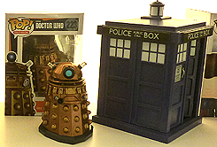 Funko Pop Dalek and Tardis