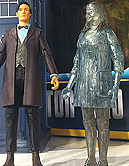 Hide Caliburn House Adventure Set Exclusive 11th Doctor and Hologram Clara
