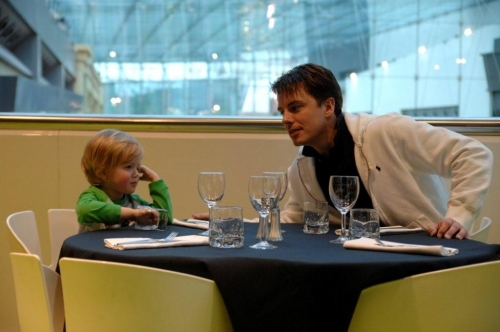 Oliver with John Barrowman - This Image is Oliver's Copyright Used by Kind Permission.  Not to be Reproduced.