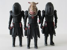 Judoon Captain (ivory) and Judoon Troopers