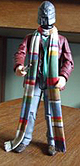 Fourth Doctor with Magnus Greel head