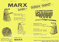 Marx Toys Announcement in Toys and Games Sept 1965 supplement