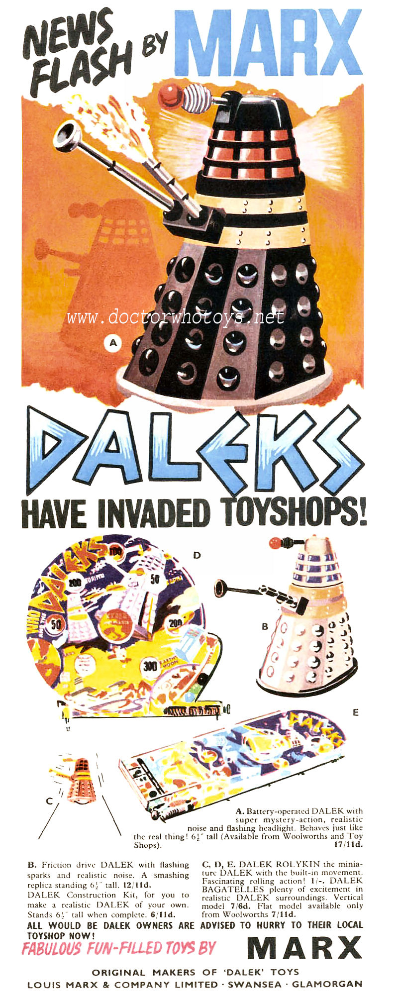 Doctor Who Toy Advertisement