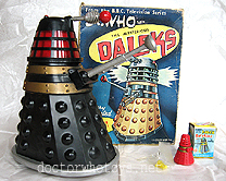 1960s Marx 6.5 inch Robot Action Dalek with the Marx Dalek Rolykins