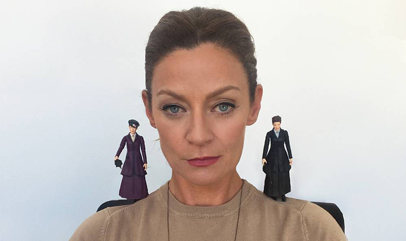 Michelle Gomez with Missy Figures