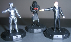 Cyberman, Judoon Trooper and Mr Saxon/The Master