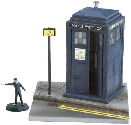 Micro Universe TARDIS with the Doctor Figure