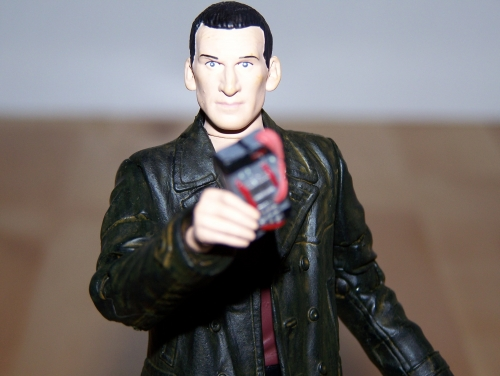 The Ninth Doctor with Anti Plastic Bomb