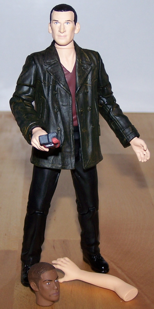 The Ninth Doctor with Auton Arm, Auton 'Mickey' Head and Anti Plastic Bomb