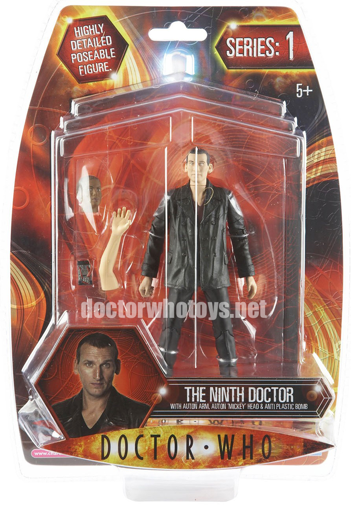 The Ninth Doctor with Auton Arm, Auton Mickey Head & Anti Plastic Bomb