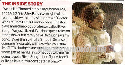 Alex Kingston Radio Times Interview on River Song Action Figure