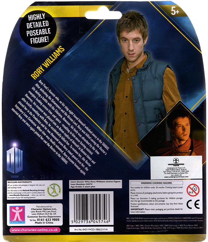 Rory Williams Variant Brown Jacket Action Figure