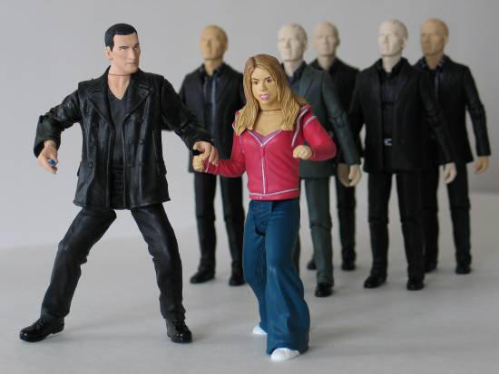 The Ninth Doctor and Autons from the episode Rose