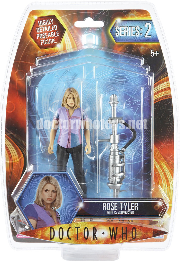 Rose Tyler with Ice Extinguisher