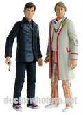 SDCC Time Crash Twin Pack - 10th Doctor in red shirt & 5th Doctor with Celery: Image Reproduced With Permission from Underground Toys