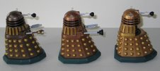 SDCC Chocolate Assault Dalek, Dalek Thay and Dalek with Mutant Reveal