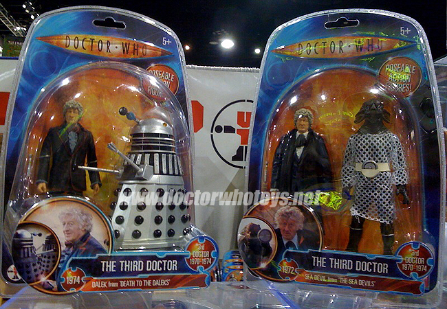 The Third Doctor Jon Pertwee & Silver Dalek and The Third Doctor Jon Pertwee & Sea Devil - Thanks Adam