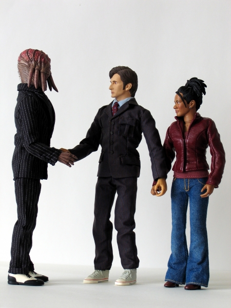 Dalek Sec Hybrid, The Doctor and Martha Jones 12 Inch Action Figures