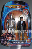 The Second Doctor Patrick Troughton & Cyberman (Tomb of the Cybermen 1967) - Colour Version