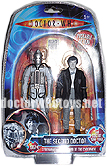 The Second Doctor Patrick Troughton & Cyberman (Tomb of the Cybermen 1967) - Limited Edition Forbidden Planet 2009 Exclusive Black & White Version