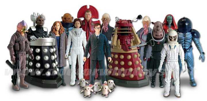 Series 4 Action Dr Who Figures