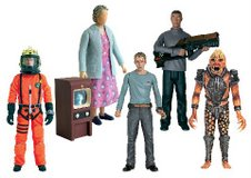 Series 2 Action Figures: The Doctor in Space Suit, Grandma Connolly & The Wire, Toby, Mickey Smith and Hoix