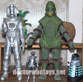 Sevans Cyberman & Ice Warrior with Character figures  - Thanks The Garm